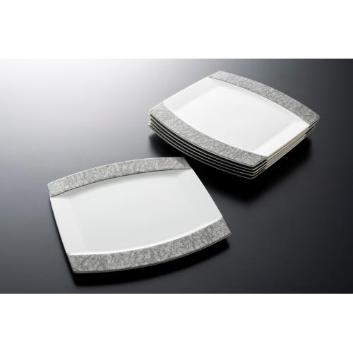 <ANA機内サービス用品>NARUMI/オブロングプレート(和紙柄)大 6枚セット