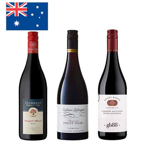 【送料無料】A-styleソムリエが選んだ、オーストラリアの果実味たっぷりの赤ワイン3本セット