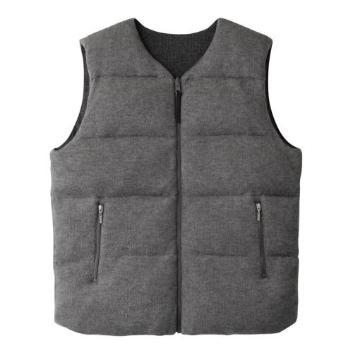 <スリードッツ>Men's reversible down vest