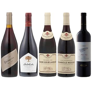 ★福袋限定★ ピノ・ノワール品種で揃えた、機内採用赤ワイン5本セット
