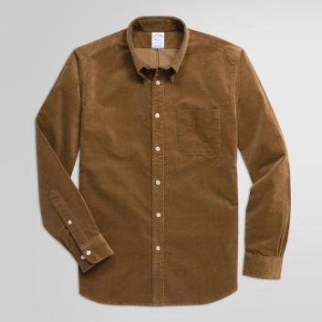 <ブルックス ブラザーズ>ストレッチコットン 21-Wale コーデュロイ スポーツシャツ Regent Fit