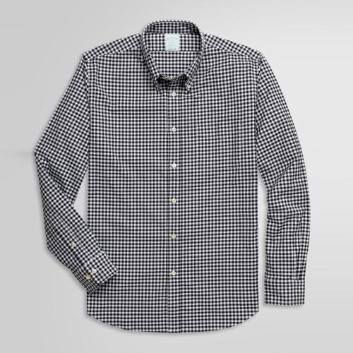 <ブルックス ブラザーズ>ストレッチコットンツイル ギンガムチェック スポーツシャツ Milano Fit