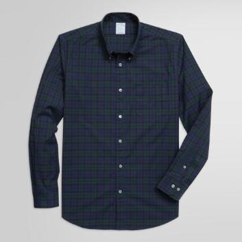 <ブルックス ブラザーズ>ストレッチコットンツイル タータンチェック スポーツシャツ Milano Fit