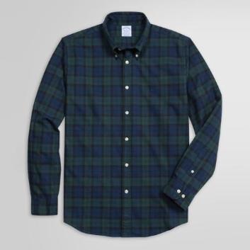 <ブルックス ブラザーズ>GF コットンフランネル プラッド スポーツシャツ Regent Fit