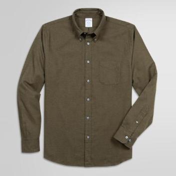 <ブルックス ブラザーズ>コットンフランネル ソリッド スポーツシャツ Regent Fit