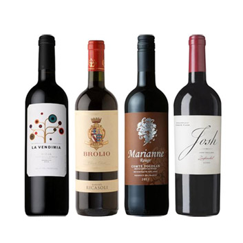 【送料無料】A-styleソムリエが選んだ、チョコレートと楽しむ赤ワイン4本セット