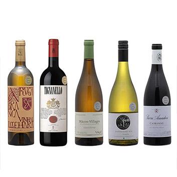 【送料無料】2019年度機内ワイン ファーストクラス、ビジネスクラス赤白5本セット