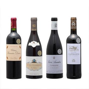 【送料無料】2019年度機内ワイン ファーストクラス、ビジネスクラス赤ワイン4本セット