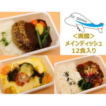 【ANA's Sky Kitchen】おうちで旅気分!!ANA国際線エコノミークラス機内食 メインデイッシュ まんぷく3種詰め合わせ 12個入り