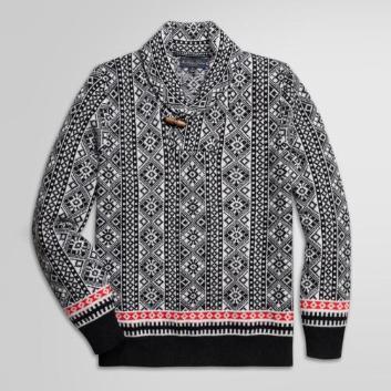 <ブルックス ブラザーズ>ウール/カシミヤ フェアアイル ショールカラーセーター