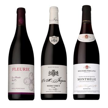 【送料無料】家飲みにおススメ! ブルゴーニュ赤ワイン3本セット