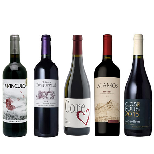 【送料無料】A-styleソムリエが選んだ、赤ワイン5本セット(2020)