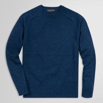 <ブルックス ブラザーズ>シェットランドウール サドルショルダー クルーネックセーター