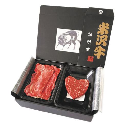 【母の日】米沢牛 ハート型ステーキ・すき焼きセット