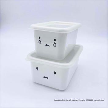 <富士ホーロー>ミッフィー 深型角容器2点セット(MFF-2DSM)