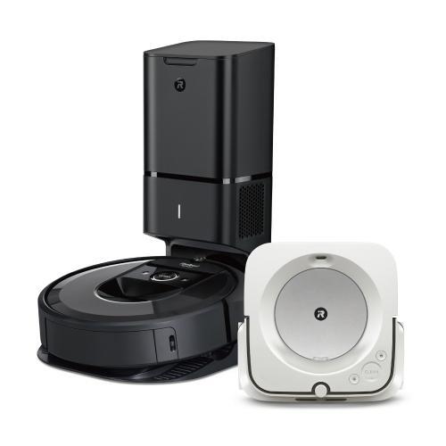 【セット割引き販売】<iRobot>ロボット掃除機ルンバ i7+と床拭きロボット ブラーバjet m6