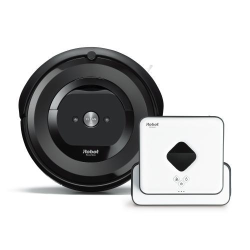 【セット割引き販売】<iRobot>ロボット掃除機 ルンバe5と床拭きロボット ブラーバ390j