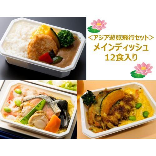 【ANA's Sky Kitchen】おうちで旅気分!!ANA国際線エコノミークラス機内食 メインデイッシュ アジア遊覧飛行セット 12個入り