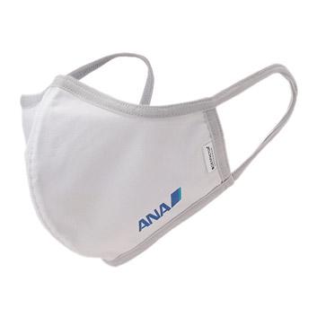 <ANAオリジナル>ウォッシャブルマスク(マスクケース付き)ホワイト(Mサイズ)