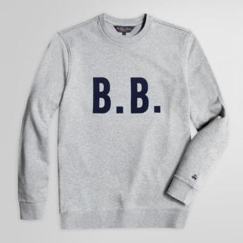 <ブルックス ブラザーズ>コットン フレンチテリー B.B.ビッグロゴ スウェットシャツ
