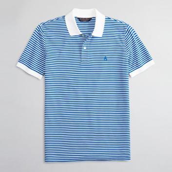 <ブルックス ブラザーズ>GF スーピマコットンピケ フィーダーストライプ ポロシャツ Slim Fit