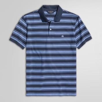 <ブルックス ブラザーズ>GF スーピマコットンピケ ラージアウトラインストライプ ポロシャツ Slim Fit