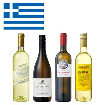 【送料無料】<A-styleソムリエ厳選>ギリシャの代表的なブドウ品種を味わう白ワイン4本セット