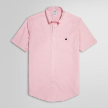 <ブルックス ブラザーズ>ノンアイロン GF ストレッチコットン ショートスリーブ スポーツシャツ Regent Fit