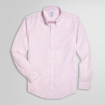<ブルックス ブラザーズ>ノンアイロン GF ストレッチコットン ボールドストライプ スポーツシャツ Regent Fit