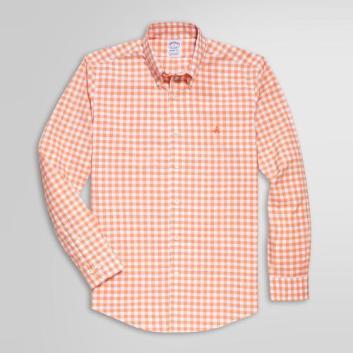 <ブルックス ブラザーズ>ノンアイロン GF ストレッチコットン ギンガムチェック スポーツシャツ Regent Fit