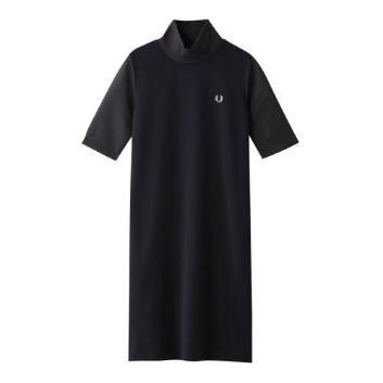 <フレッドペリー>RIBBED NECK DRESS