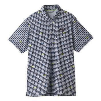 <アンパスィ>【吸汗速乾】サングラスモチーフポロシャツ
