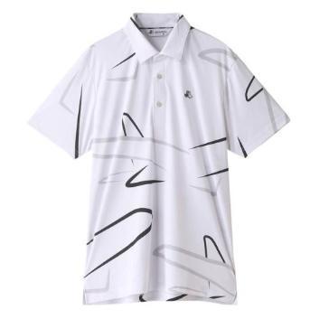 <ブラックアンドホワイト>【抗菌防臭】【接触冷感】エアプレーン柄半袖シャツ