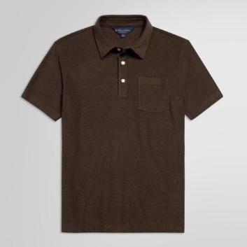 <ブルックス ブラザーズ>コットン/ポリエステル フレンチテリー ポロシャツ withポケット Slim Fit