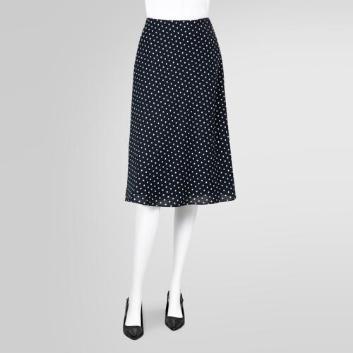 <ブルックス ブラザーズ>ポリエステルツイル ドットプリント マーメイドラインスカート