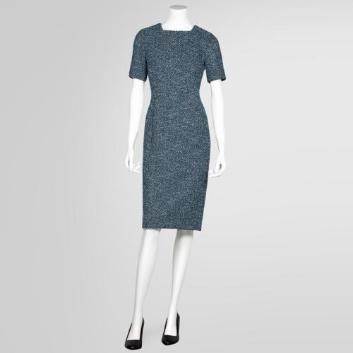 <ブルックス ブラザーズ>レーヨン/ポリエステル フルニードル ショートスリーブニットドレス
