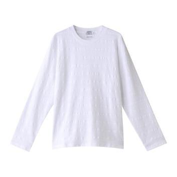 <ジム>ジャカードボーダー長袖Tシャツ
