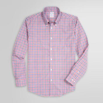 <ブルックス ブラザーズ>ノンアイロン ストレッチコットン マイクロチェック スポーツシャツ Regent Fit
