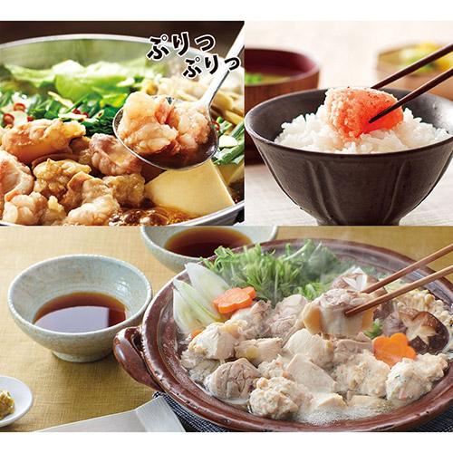 <やまや>明太子と水炊きセット</br>+もつ鍋醤油セット