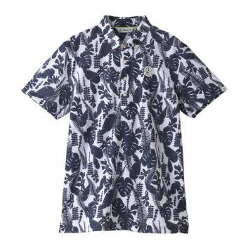 <アンパスィ>【吸汗速乾】ジャングルリーフ柄半袖シャツ