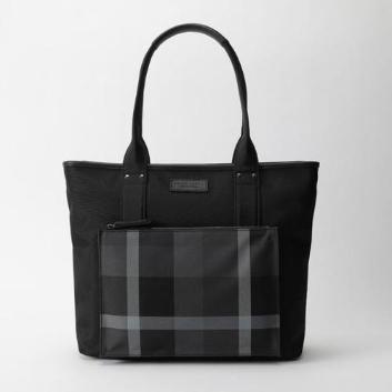 <ブラックレーベル・クレストブリッジ>ト―ナルパーシャルツイルクレストブリッジチェックトートバッグ