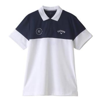 <キャロウェイアパレル>半袖シャツ変形カノコ