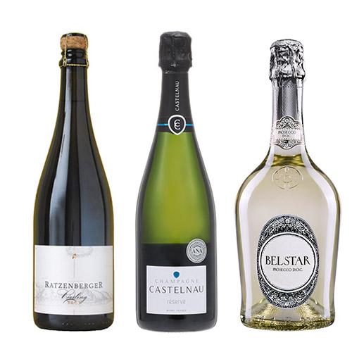 【送料無料】<A-styleソムリエ厳選>夏に飲みたい!冷やして美味しいスパークリングワイン3本セット