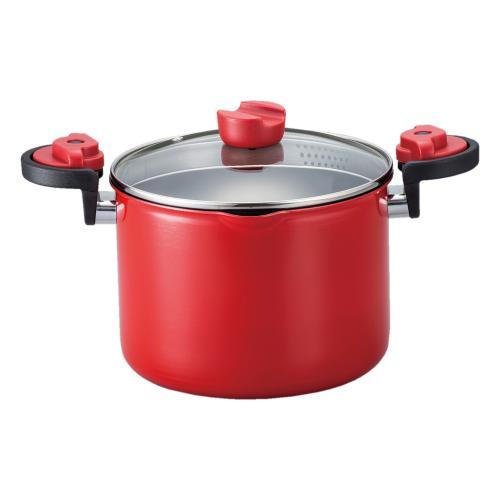 KACHAT 湯切りもできるハイキャセロール 20cm(ND-2996)