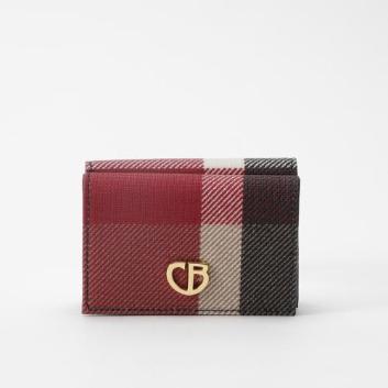 <ブルーレーベル・クレストブリッジ>クレストブリッジチェックPVC三つ折り財布