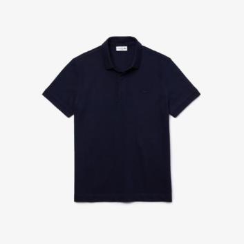 <ラコステ>パリポロシャツ レギュラーフィット ストレッチ(無地・半袖)