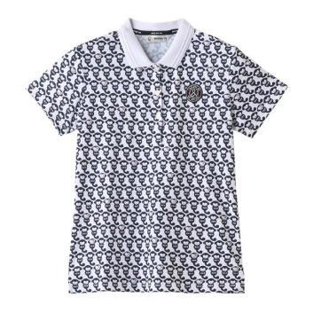 <アンパスィ>【吸汗速乾】【ストレッチ】アンパンジー柄プリントポロシャツ