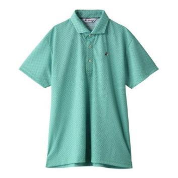 <ブラックアンドホワイト>【抗菌防臭】【吸汗速乾】ウェーブ柄半袖シャツ