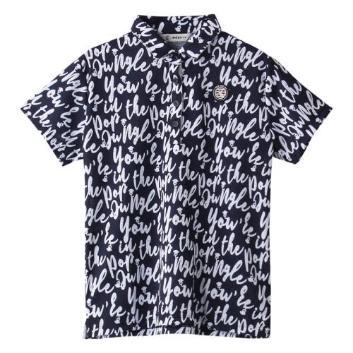 <アンパスィ>【吸汗速乾】【抗菌防臭】ジャングル柄ポロシャツ