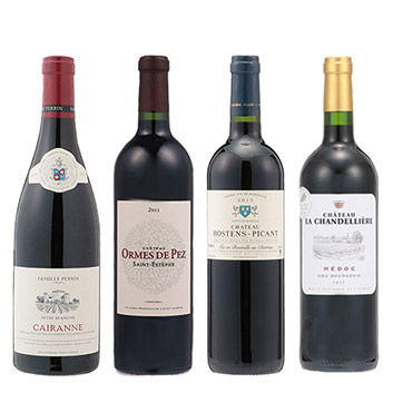 【スペシャルセレクション】歴代機内ワイン ビジネスクラス赤4本セット